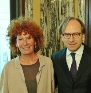 Patrizia Floder Reitter e l'Ambasciatore Sebastiani