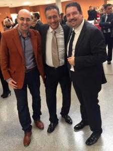 Giuseppe Devastato con Jimmy Lim e Fernando Molina, direttori dell'Alfonso X El Sabio de Madrid