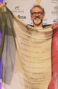 con bandiera