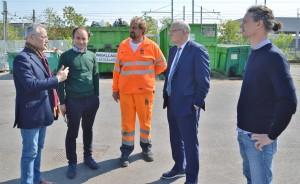A sinistra, il presidente Serit, Massimo Mariotti